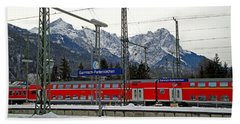 Garmisch-partenkirchen In Winter Beach Towel
