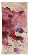 Garnet Color Splash Beach Towel