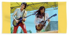 Gary Moore And Scott Gorham Of Thin Lizzy At Day On The Green 4th Of July 1979 - New Unreleased Beach Towel
