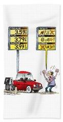 Gas Price Curse Beach Towel