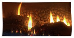 Gas Stove Flame Beach Sheet