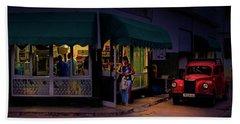 Gasolinera Linea Y Calle E Havana Cuba Beach Towel by Charles Harden