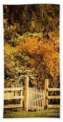 Gates In Fall Beach Towel