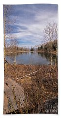 Gates Lake Ut Beach Towel by Cindy Murphy - NightVisions