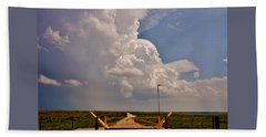 Beach Towel featuring the photograph Gates Of Hail by Ed Sweeney