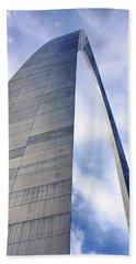 Beach Towel featuring the photograph Gateway Arch - Grace - Saint Louis by Nikolyn McDonald