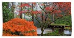 Gateway To Portland Japanese Garden Beach Sheet