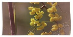 Gathering Pollen Beach Sheet by Cassandra Buckley