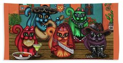 Gatos De Santa Fe Beach Sheet