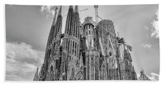 Gaudi La Sagrada Blk Wht Beach Sheet