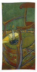 Beach Towel featuring the painting Gauguin's Chair by Van Gogh