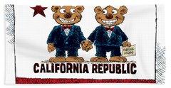 Gay Marriage In California Beach Towel