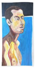Beach Sheet featuring the painting Gay Survivor by Esther Newman-Cohen