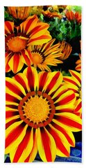 Gazania Splendour Beach Towel