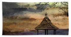 Gazebo And Lake  Beach Sheet by R Kyllo