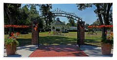 Beach Towel featuring the photograph Gazebo At Celebration Park by Judy Vincent
