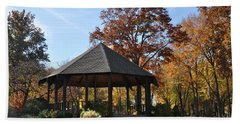Gazebo At North Ridgeville - Autumn Beach Towel