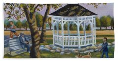 Gazebo In Fireman's Park  Beach Towel