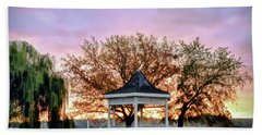 Beach Towel featuring the photograph Gazebo Sunrise At Claytor Lake by Kerri Farley