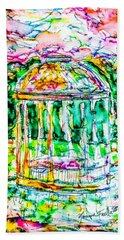 Beach Towel featuring the painting Gazebo Sunset by Monique Faella