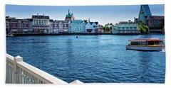 Gazebo View Of The Boardwalk Walt Disney World Mp Beach Towel