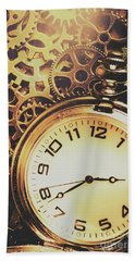 Gears Of Time Travel Beach Towel