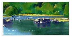 Geese On The Rappahannock Beach Towel