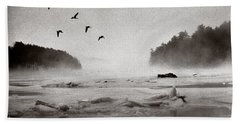 Geese Over Great Bay Beach Towel