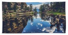 Gem Lake Reflections Beach Towel