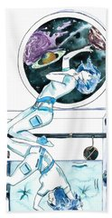 Gemini Journey Pollux Pleads Beach Towel by D Renee Wilson