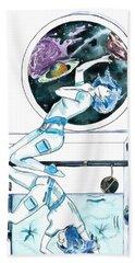 Gemini Journey Pollux Pleads Beach Sheet by D Renee Wilson