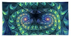 Beach Towel featuring the digital art Gemini by Jutta Maria Pusl