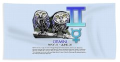 Gemini Sun Sign Beach Towel