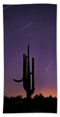 Geminid Meteor Shower #1, 2017 Beach Towel