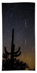 Geminid Meteor Shower #2, 2017 Beach Towel
