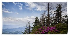 Rhododendrons - Roan Mountain Beach Towel
