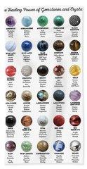 Gemstones And Crystals Beach Towel