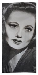 Gene Tierney  Beach Towel