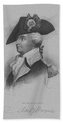 Beach Towel featuring the mixed media General Anthony Wayne by War Is Hell Store