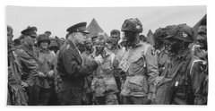 General Eisenhower On D-day  Beach Towel