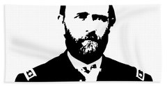 General Grant Black And White  Beach Towel