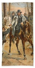General Grant In The Wilderness Campaign 5th May 1864 Beach Towel