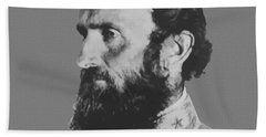 General Stonewall Jackson Profile Beach Towel