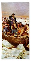 General Washington Crossing The Delaware River Beach Sheet by War Is Hell Store