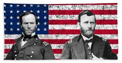 Generals Sherman And Grant  Beach Towel