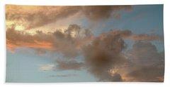 Gentle Clouds Gentle Light Beach Sheet