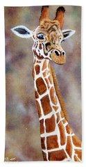 Gentle Giraffe Beach Towel