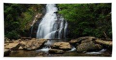 Gentle Waterfall North Georgia Mountains Beach Sheet