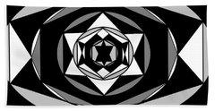 'geometric 1' Beach Sheet by Linda Velasquez