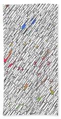 Geometric Abstract Beach Sheet by Matt Lindley